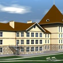 Проект современного детского сада с бассейном, детским театром и спортивными залами.