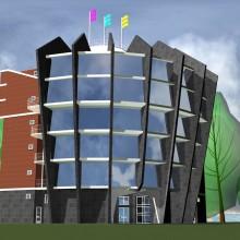 Вариант здания для Торгово-промышленной палаты