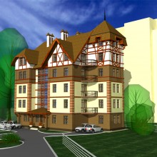 Многоквартирный жилой дом по ул.Арх.Попова в Светлогорске (вариант)