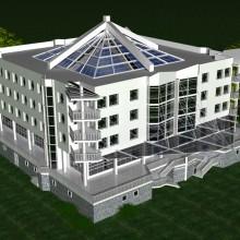 Административно-торговое здание в Зеленоградске (вариант)