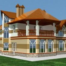 Крупный загородный дом в п.Холмы