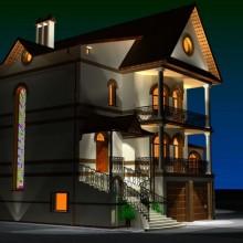 Жилой дом по ул.Ахматовой. Световой дизайн