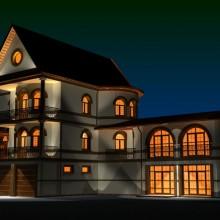 Жилой дом по ул.Ахматовой. Световой дизайн.