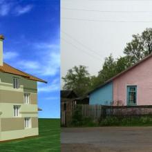 Реконструкция существующего одноэтажного многоквартирного дома с существенным увеличением площади