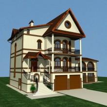 Жилой дом по ул.Ахматовой. Дизайн фасадов. Лицевой кирпич.